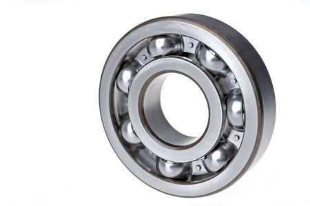 An upright bearing on a white background