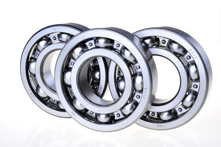 Three bearings on a white background