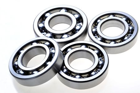constitute: 4 bearings constitute a pattern on a white background Stock Photo
