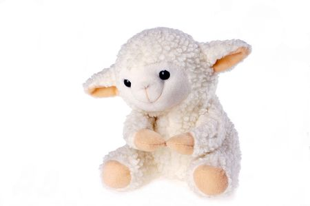 A little lamb by the children's favorite toys Stock Photo - 6260433