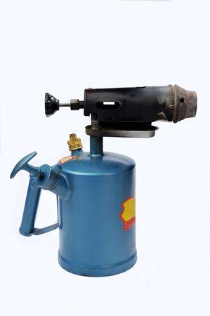 blowtorch: A blue blowtorch on a white background