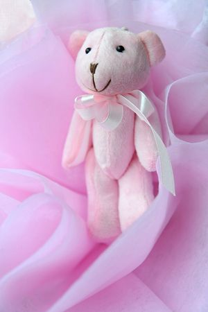 A cute pink plush mouse decorations Stock Photo - 6899040