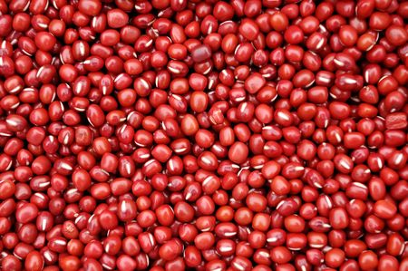 Composed of a lot of red beans red background