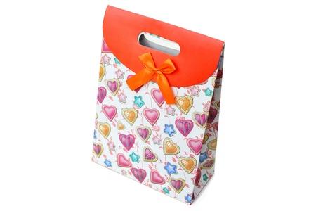 A beautiful gift box on white background