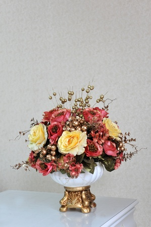 Beautiful decorative flowers on the table.