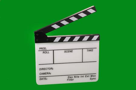 clapperboard: Open film clapperboard