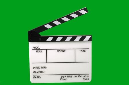 Open film clapperboard
