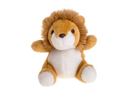 Lion toy on white background Stock Photo