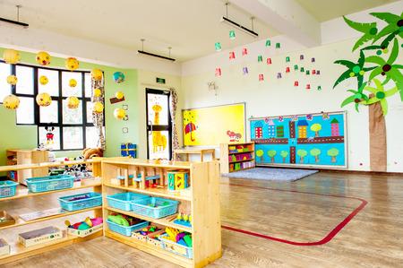 Kindergarten class room without kids.