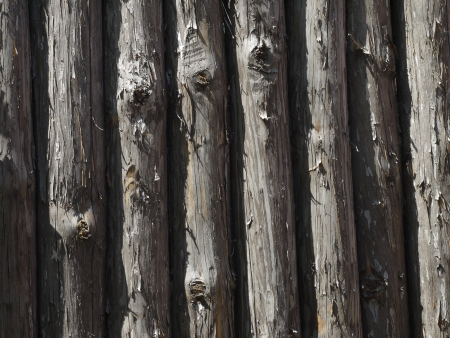 stockade: fence, gray old wooden stockade as background Stock Photo