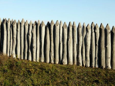palisade: wooden palisade of the protective fence of an ancient fortress