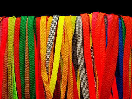 shoelaces: Many multicolored shoelaces for shoes and sneakers