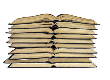 disclosed: the open books folded on each other