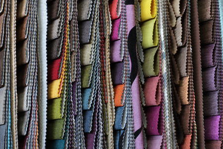 sheathing: set of multi-colored upholstery samples for upholstered furniture