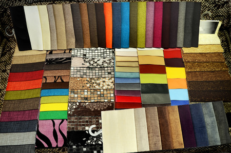 scabrous: set of multi-colored upholstery samples for upholstered furniture