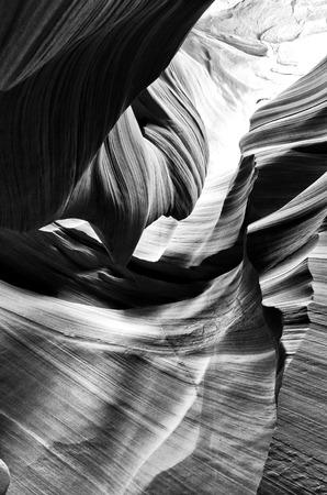 slot canyon: Slot Canyon in Black & White
