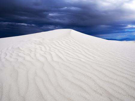white sand: Stormy Desert