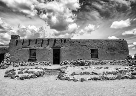 adobe: Ancient Adobe Structure - Abandant Building