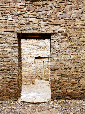 chaco: Chaco Canyon Public Ruins Stock Photo