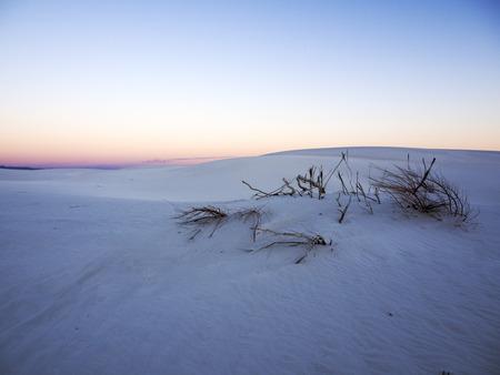 white sands national monument: Solitude Sunset at White Sands National Monument