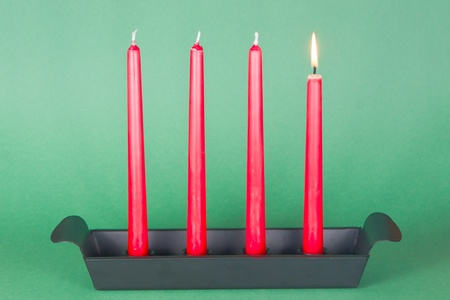 First of Advent with red candles photo