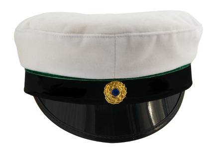 education in sweden: Swedish student cap front view isolated on white background  Stock Photo