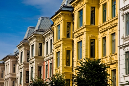 Victorian homes and apartments in Oslo Norway photo