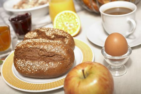 A nice decorated table with delicious breakfast
