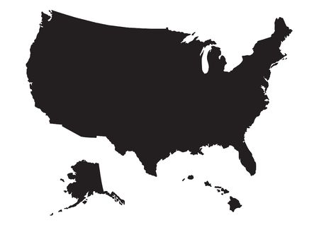 silver state: Map of US with flag
