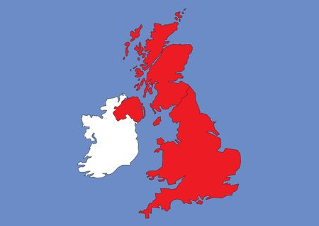 Map of Great Britain and Ireland photo
