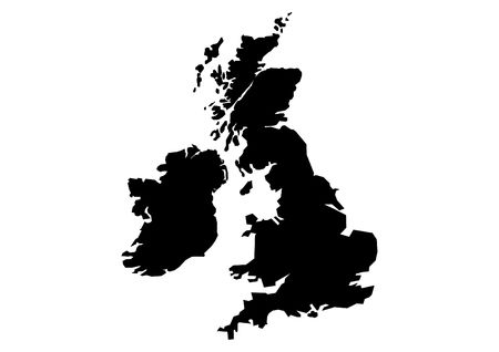 isles: Map of Great Britain and Ireland Stock Photo