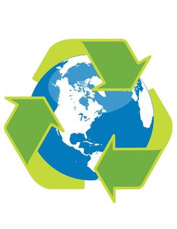 Recycle symbol surrounding the globe Stock Photo - 5120767