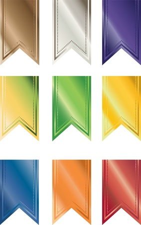 A Set of Multi-colored Shiny Pendant Banners Stock Photo - 14849168