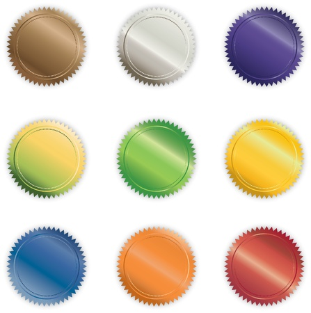 Various Vibrant Shiny Vector Buttons 스톡 콘텐츠