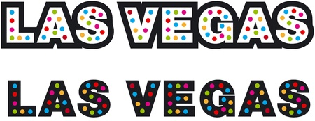 A Colorful Textual Las Vegas Image photo