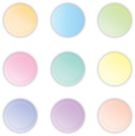 Various Pastel Colored Vector Buttons photo