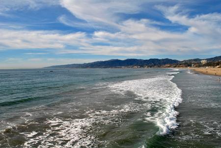 Beach view in Santa Monica, California, USA