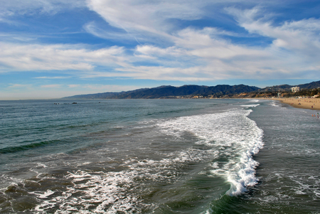 Beach view in Santa Monica, California, USA