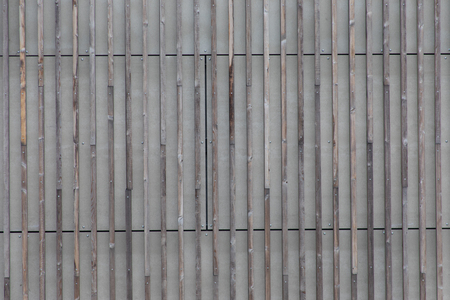 Close up of corrugated wood wall