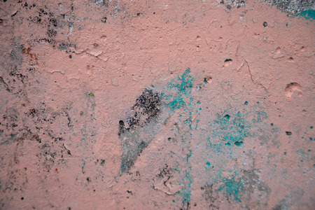 Pink and green spray paint on a cement wall, great background for designers Stock Photo