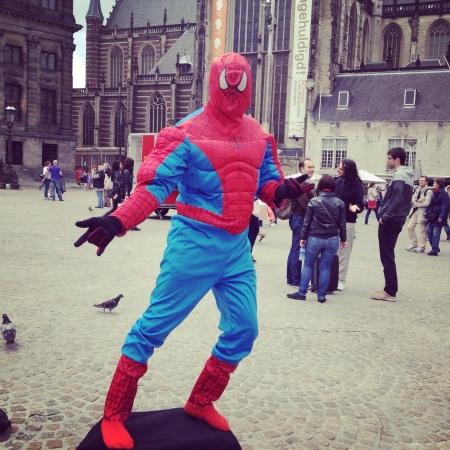 dam square: Spiderman at Dam Square