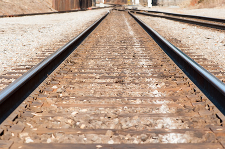 railroad track with cross ties
