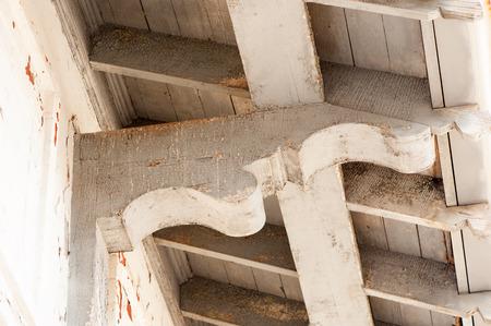 architectural detail wooden corbel Reklamní fotografie