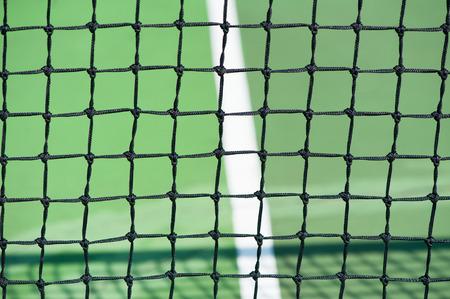 Tennis court and net closeup