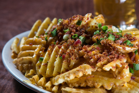 Loaded Fries Stockfoto