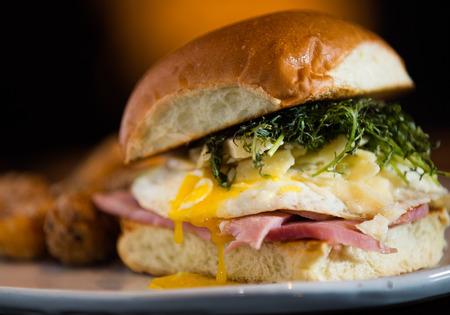 Ham, Egg and Cheese Breakfast Sandwich