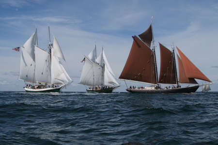 schooner: Gloucester Schooner Race off of Eastern Point Lighthouse