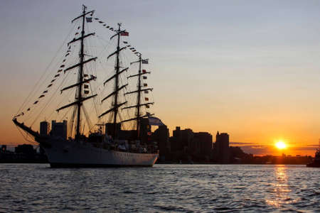 rigger: Libertad during Sail Boston 2009 in Boston Harbor