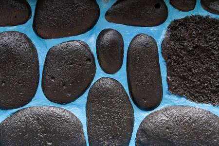 Stone wall on San Christobal Island, Galapagos Islands, Ecuador Banco de Imagens