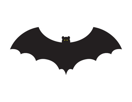 Vector illustration of a bat on white